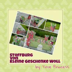 selbstgenähte Stoffburg