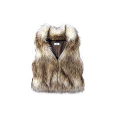 Loft Faux-Fur Vest Editors' Picks Under $100 InStyle.com featuring polyvore vests fur jackets tops clothing