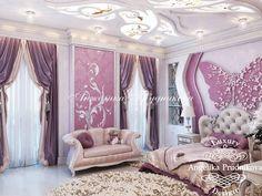 Дизайн интерьера комнаты для девочки в с тиле Ар Деко на Чистых прудах - фото
