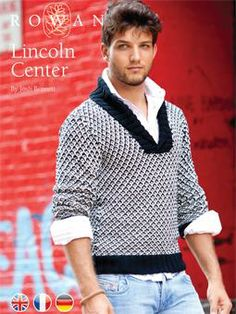 Free Knitting Pattern - Men's Sweaters: Lincoln Center Shawl Collar Sweater