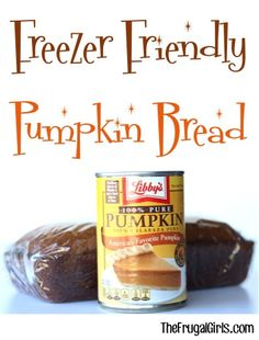 Freezer Friendly Pumpkin Bread Recipe! ~ from TheFrugalGirls.com ~ this delicious Pumpkin Bread freezes great and can be an indulgence year-round with this easy recipe! #recipes #thefrugalgirls