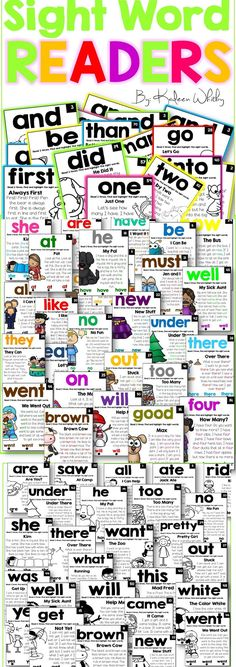 Sight Word Fluency Readers. 100 no prep, fun engaging easy sight word readers for little readers.