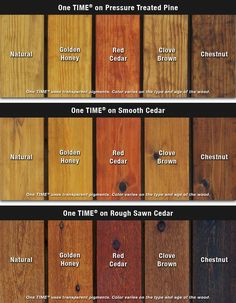 One TIME Wood Protector Colors - environmentally friendly deck protection