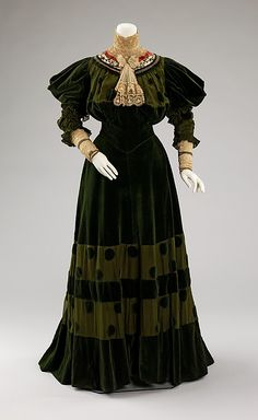 Dinner Dress. 1894.  By Jeanne Hallee.