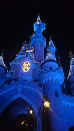 Disney Castle by night