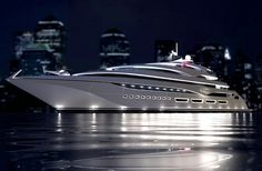 Awesome yacht. Amazing, luxury, awesome, expensive, enormous, giant, modern…