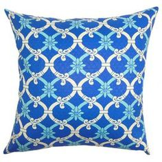 Add a pop of pattern to your sofa or patio bench with this chic indoor/outdoor pillow, offering a bold on-trend design.
