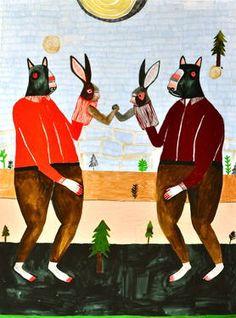 "Saatchi Art Artist Kelly Puissegur; Painting, ""Arm Wrestle"" #art"