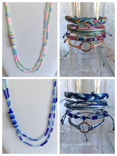 Beautiful Jewelry: Cord bracelets and seed beds necklaces from Etsy shop