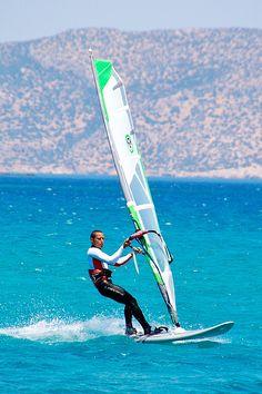 Afiartis, windsurf paradise, Karpathos 2009 by kruijffjes, via Flickr