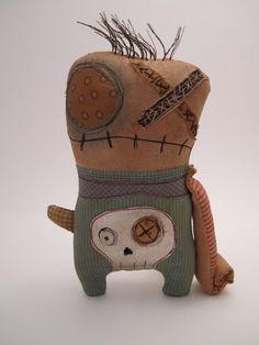 Handmade Grungy lil Zombie monster SHERM by jennifoofoo on Etsy