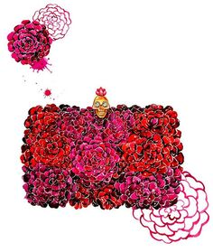 Alexander McQueen flower box clutch❤️ ______________________________________ #SunnyGu #alexandermcqueen #floral #art #flower #flowerlover #bag #clutch #red #watercolor #accessory #love #february  #valentinesday #happyvalentinesday #ootd #inspire #instaart #instalove #instadaily #inspiration #illustrator #illustration #fashion #fashionista #fashionillustration