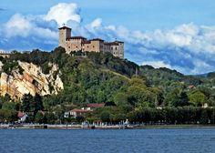 The Castle - La rocca di Angera vista da Arona.  lago Maggiore the fortress of Angera, overlooking Lake Maggiore, view from Arona