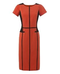 Color Block Tailored Dress - Length from 41in at Simply Be