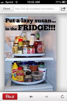Lazy Susan in fridge