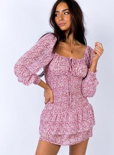 Shop for a trending Mini Dress online now at Princess Polly! Day Dresses, Casual Dresses, Dresses With Sleeves, Mini Dresses, Casual Outfits, Floral Dresses, Girl Outfits, Fashion Outfits, Lace Up Bodycon Dress