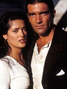 """Antonio Banderas & Salma Hayek in """"Desperado"""", they were so hot in this movie!"""
