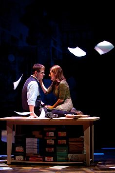 Trent Dawson and Alina Phelan in Dead Man's Cell Phone. Photo by Suzanne Mapes