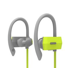 Bluetooth Headset for Running, Smart Memory Ear Stabilizer with Microphone Mic, Wireless Headphone for Sport, Running,Jogging,Hiking,Exercises, iPhone 7 6 5, Galaxy, HTC and Nokia Cell Phones, Green. Runner's Choice. Silicone Ear Hook Integrated with Headset, It's not going to drop off or break even if you run as fast as wind. Clear talk and music. Latest CVC 6.0 Smart noise cancellation technology helps to eliminate level noise and environment noise. Comfortable wearing. There is a…