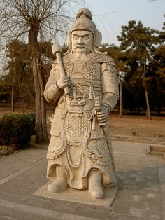 statue in the Ming Dynasty Tombs complex in China