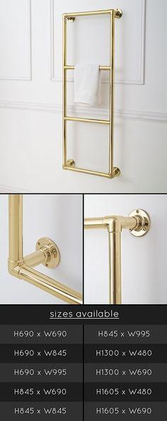Classic Gold Heated Towel Rail £626
