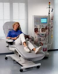 Patient on In-Center Hemodialysis - They made it look almost elegant didn't they? lol