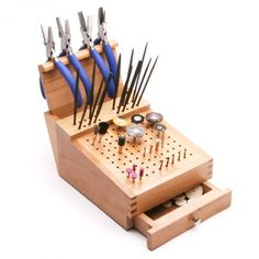 Jewelr's Tools - Bur, File, and Pliers Organizer