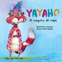 Yayaho, petit animal imaginaire, est un croqueur de mots. Son passe-temps ? Arracher des syllabes et les collectionner pour former des mots nouveaux. Ouvrez l'oeil, car qui se cache derrière le rideau ? C'est Yayaho, le croqueur de mots ! Et crac, boum, miam... Phonemic Awareness, Letter Sounds, Book Recommendations, Alphabet, Literacy, Canada, Literature, Animation, Lettering