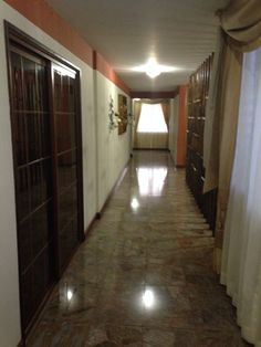 Rooms hallway in Payaqui Hotel in Guatemala.