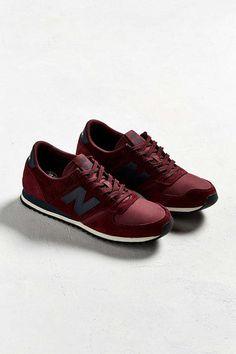 Slide View  2  New Balance 420 Burgundy + Navy Sneaker New Balance 420 f01e79a6c