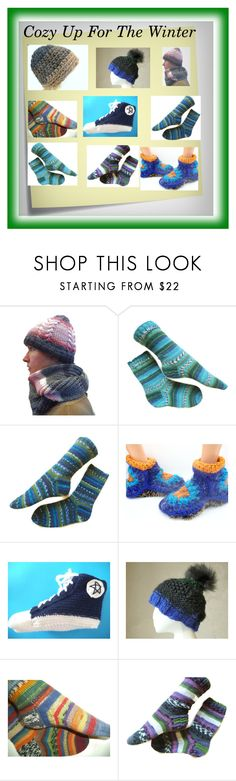 """""""Buy your winter gear here"""" by hvaradhan ❤ liked on Polyvore featuring Post-It, Converse, Winter, you, hats and socks"""