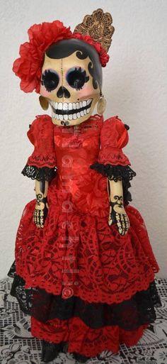 Día de Muertos Bailarina de Flamenco por ToTlamachtli en Etsy, $145.00