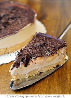 Cheesecake al caffe e cioccolato torta fredda vickyart arte in cucina