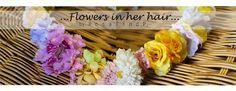 Flowers in her hair...(◡‿◡❀) #3  by me! ❤❃❂❁❀✽✼✻  #flowers #crown