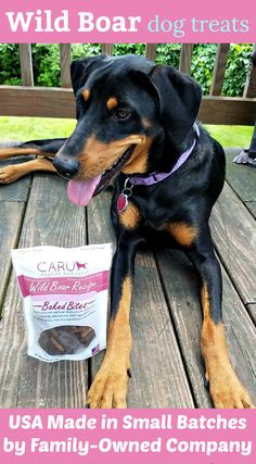 Caru Wild Boar treats are made in small batches in the USA #sponsored Dog Mom | Dog Products | Life with Dogs | Rescue Dog