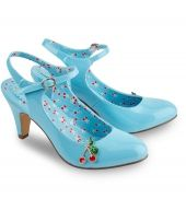 Cherry Baby Patent Shoes Get a little cheeky in these cherry shoes. A beautiful patent blue is partnered with a pretty cherry brooch and printed lining for easy retro glamour.Heel height: 8.5cm>>>>>Upper/Lining/Sock/Outsole:  http://www.MightGet.com/march-2017-1/cherry-baby-patent-shoes.asp