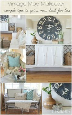Vintage Mod Makeover {Simple & Easy Tips To Get A New Look For Less {City Farmhouse}