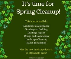 Does your home need a spring clean up? You may not have time for that, but the Trimlawn Landscape Services can help! Call our landscaping experts at 770-925-4988.