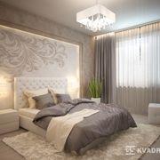 Спальня теплых тонах