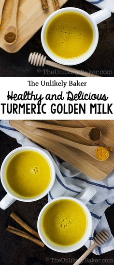 With hundreds of health benefits, everyone should really be drinking turmeric golden milk #turmeric #drink #beverage #recipe #milk #healthyfood