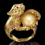 """Ring chameleon. """"Master Exclusive"""" Izhevsk Jewelry House, Russia"""
