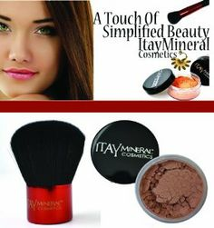 """ITAY Mineral Cosmetics: Kabuki Makeup Brush + FB5 Mineral Bronzer """"Luster"""" by ITAY Mineral Cosmetics. $41.95. All-Natural Ingredients. Easy to Store. Free of Dyes and Chemicals. Kabuki Foundation Brush. Mineral Bronzer FB5 -  """"Luster"""". ITAY Kabuki Foundation Brush + Mineral Bronzer FB5 """"Luster"""" If you're looking for a natural glow to last you all year long, you don't need a tanning bed or harsh lotions. ITAY Mineral Bronzers give you a beautifully natural glow that keeps ..."""