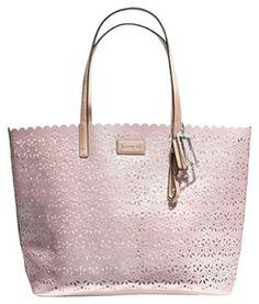 Coach Metro Eyelit Leather Pink Tote Bag $217