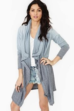 Fade Out Cardi - Gray     $58.00