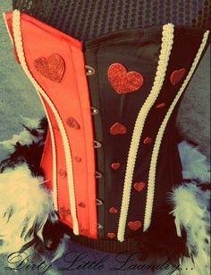 Queen of hearts rave corset.
