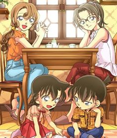 Ran and Shinichi and their moms