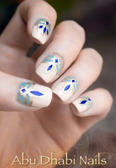 Amazing Nailart - Abu Dhabi Inspired! #nail #nails #nailart - bellashoot.com