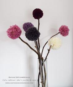 DIY: de jolis pompoms sur branches pour décorer votre chez-soi, Beautiful pom…