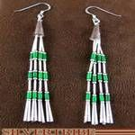 Malachite and Genuine Liquid Sterling Silver Hook Earrings