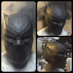 newest commission almost ready to mold --- huge thanks to my amigo for his assistance Black Panther Pin, Black Panther Storm, Black Panther Costume, Comic Movies, Comic Books, Lego Head, Helmet Paint, Superhero Cosplay, Captain America Civil War